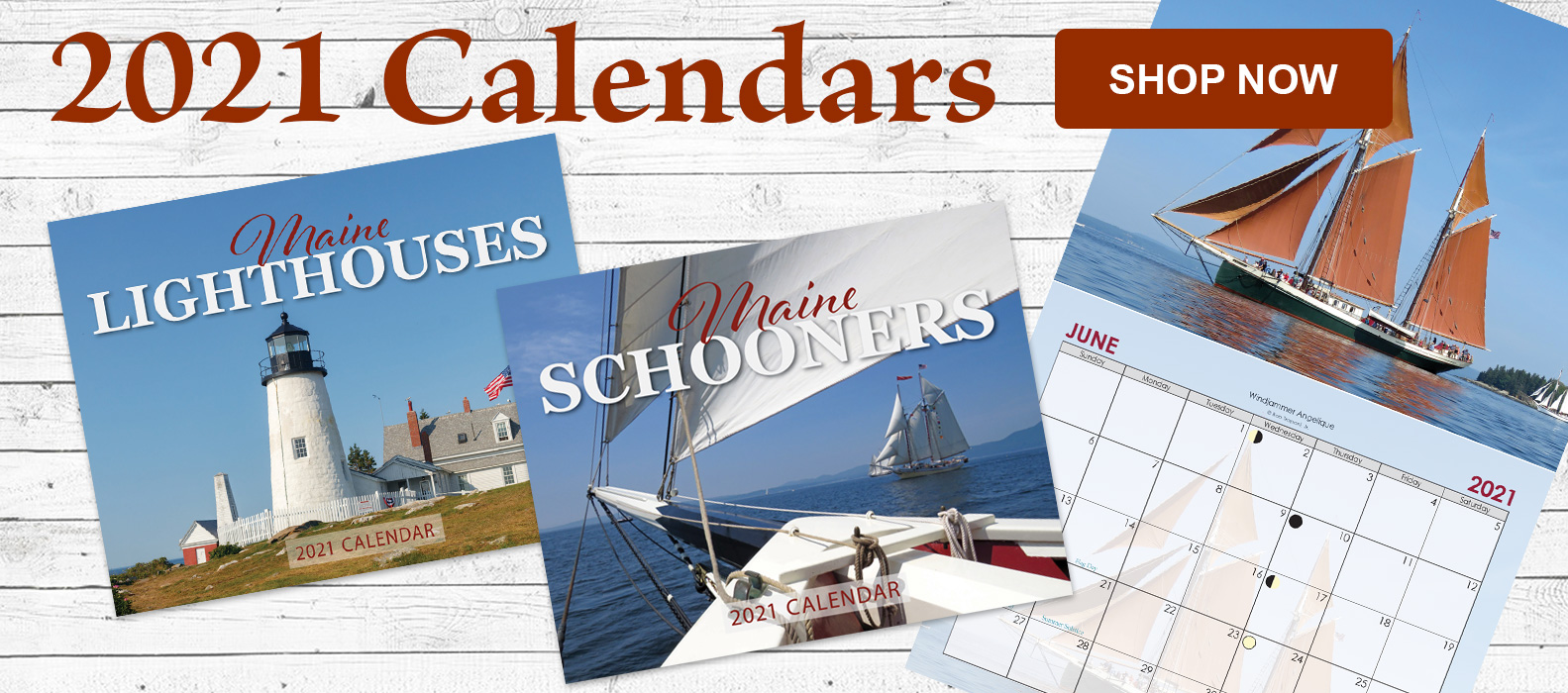 2021 Maine Lighthouse and Schooner Calendars