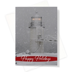 Marshall Point Lighthouse Christmas Card | Box Set of 12