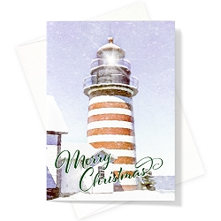 West Quoddy Lighthouse Christmas Card | Box Set of 12